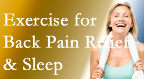 Johnson Chiropractic shares new research about the benefit of exercise for back pain relief and sleep.