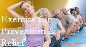 Johnson Chiropractic suggests exercise as a key part of the back pain and neck pain treatment plan for relief and prevention.