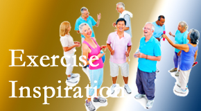 Johnson Chiropractic hopes to inspire exercise for back pain relief by listening carefully and encouraging patients to exercise with others.