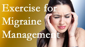 Johnson Chiropractic includes exercise into the chiropractic treatment plan for migraine relief.