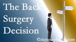 Richmond back surgery for a disc herniation is an option to be carefully studied before a decision is made to proceed.