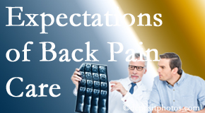 The pain relief expectations of Richmond back pain patients influence their satisfaction with chiropractic care. What is realistic?
