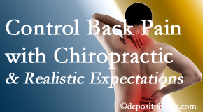 Johnson Chiropractic helps patients set realistic goals and find some control of their back pain and neck pain so it doesn't necessarily control them.