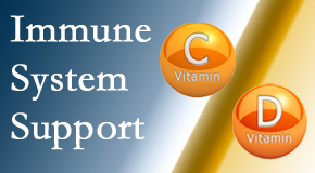 Johnson Chiropractic presents details about the benefits of vitamins C and D for the immune system to fight infection.