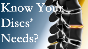 Your Richmond chiropractor knows all about spinal discs and what they need nutritionally. Do you?