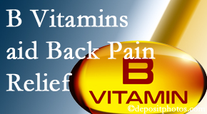 Johnson Chiropractic may include B vitamins in the Richmond chiropractic treatment plan of back pain sufferers.