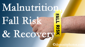 Johnson Chiropractic assesses patients for fall risks which include nutritional status and malnutrition indicators.