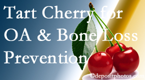 Johnson Chiropractic shares that tart cherries may enhance bone health and prevent osteoarthritis.