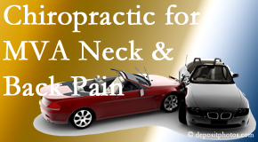 Johnson Chiropractic offers gentle relieving Cox Technic to help heal neck pain after an MVA car accident.