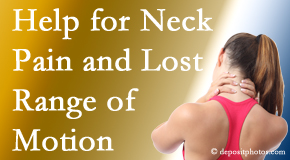 Johnson Chiropractic helps neck pain patients with limited spinal range of motion find relief of pain and restored motion.