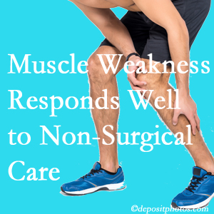 Richmond chiropractic non-surgical care manytimes improves muscle weakness in back and leg pain patients.