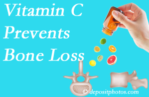Johnson Chiropractic may recommend vitamin C to patients at risk of bone loss as it helps prevent bone loss.