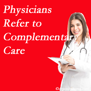 Johnson Chiropractic [presents how medical physicians are referring to complementary health approaches more, particularly for chiropractic manipulation and massage.