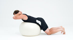 erector spinae muscle strengthening on ball
