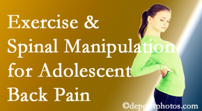 Johnson Chiropractic uses Richmond chiropractic and exercise to help back pain in adolescents.