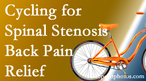 Johnson Chiropractic encourages exercise like cycling for back pain relief from lumbar spine stenosis.