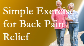 Johnson Chiropractic encourages simple exercise as part of the Richmond chiropractic back pain relief plan.