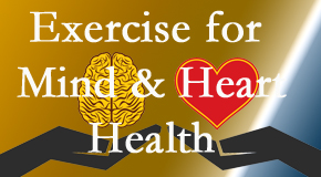 A healthy heart helps maintain a healthy mind, so Johnson Chiropractic encourages exercise.