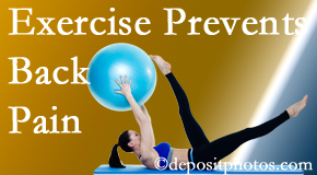 Johnson Chiropractic suggests Richmond back pain prevention with exercise.