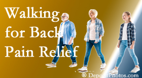 Johnson Chiropractic often recommends walking for Richmond back pain sufferers.