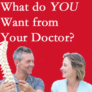 Richmond chiropractic at Johnson Chiropractic includes examination, diagnosis, treatment, and listening!
