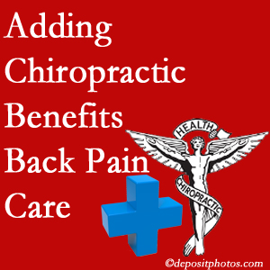 Added Richmond chiropractic to back pain care plans helps back pain sufferers.