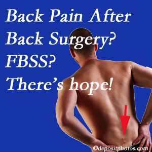 Richmond chiropractic care offers a treatment plan for relieving post-back surgery continued pain (FBSS or failed back surgery syndrome).