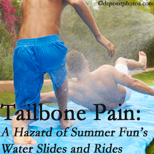 Johnson Chiropractic offers chiropractic manipulation to ease tailbone pain after a Richmond water ride or water slide injury to the coccyx.