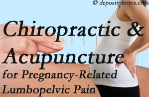 Richmond chiropractic and acupuncture may help pregnancy-related back pain and lumbopelvic pain.