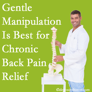 Gentle Richmond chiropractic treatment of chronic low back pain is superior.