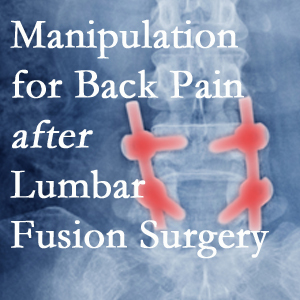 Richmond chiropractic spinal manipulation helps post-surgical continued back pain patients discover relief of their pain despite fusion.