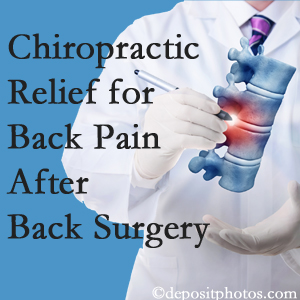 Johnson Chiropractic offers back pain relief to patients who have already undergone back surgery and still have pain.