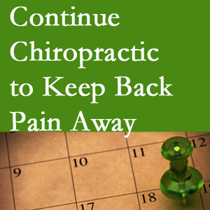 Continued Richmond chiropractic care helps keep back pain away.