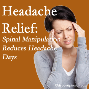 Richmond chiropractic care at Johnson Chiropractic may reduce headache days each month.