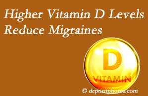 Johnson Chiropractic shares a new report that higher Vitamin D levels may reduce migraine headache incidence.